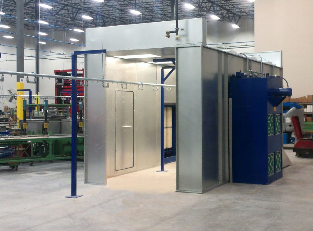 Crossflow Powder Spray Enclosure