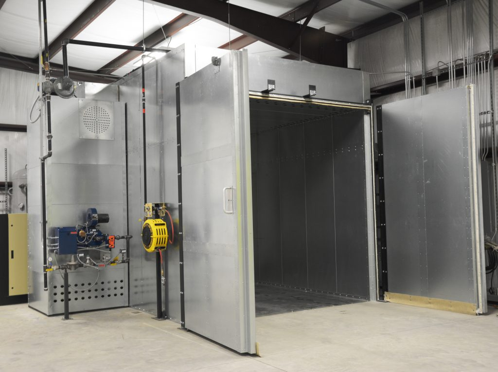 Powder Coating Oven With Open Doors