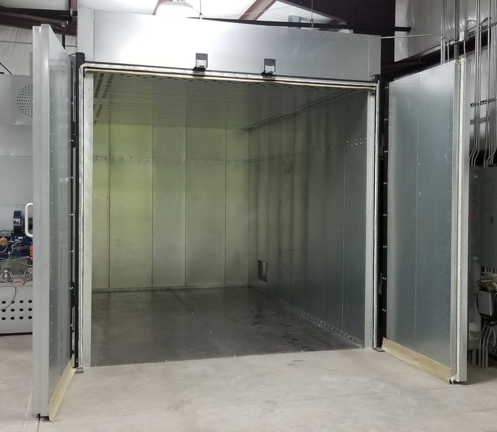Powder Coating Oven Doors-Opens