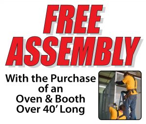 Free Install & Assembly On New Powder Coating Systems
